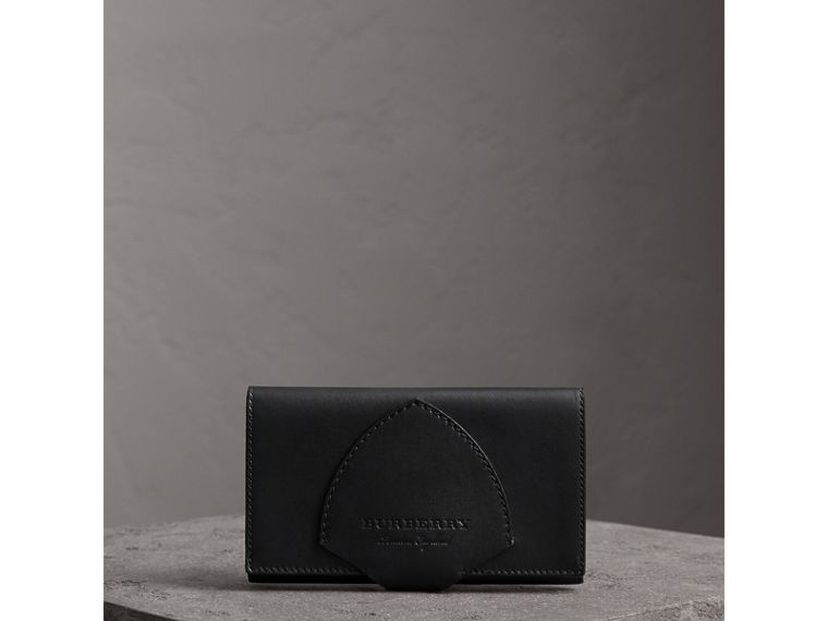 Equestrian Shield Leather Continental Wallet in Black - Women | Burberry - cell image 4