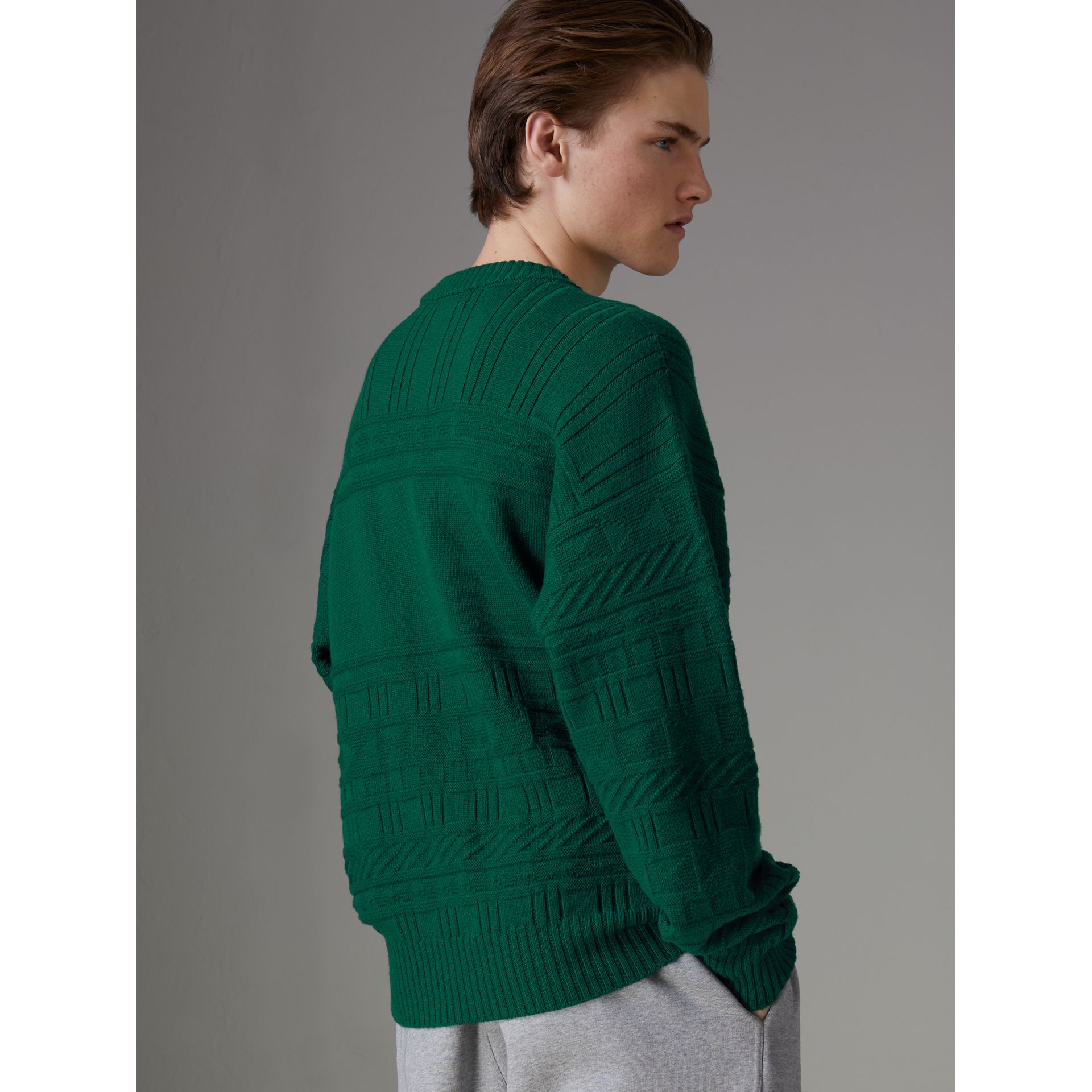 Reissued Wool Sweater in Dark Green - Men | Burberry - gallery image 2