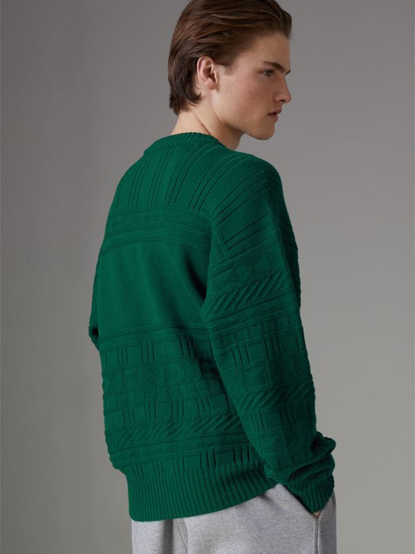 Reissued Wool Sweater in Dark Green - Men | Burberry United Kingdom - cell image 2
