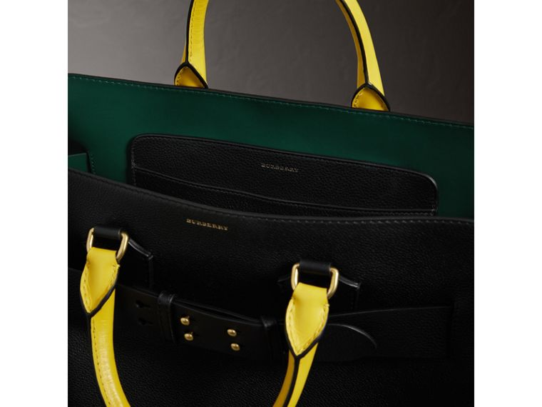 The Large Tri-tone Leather Belt Bag in Black/sea Green | Burberry Australia - cell image 4