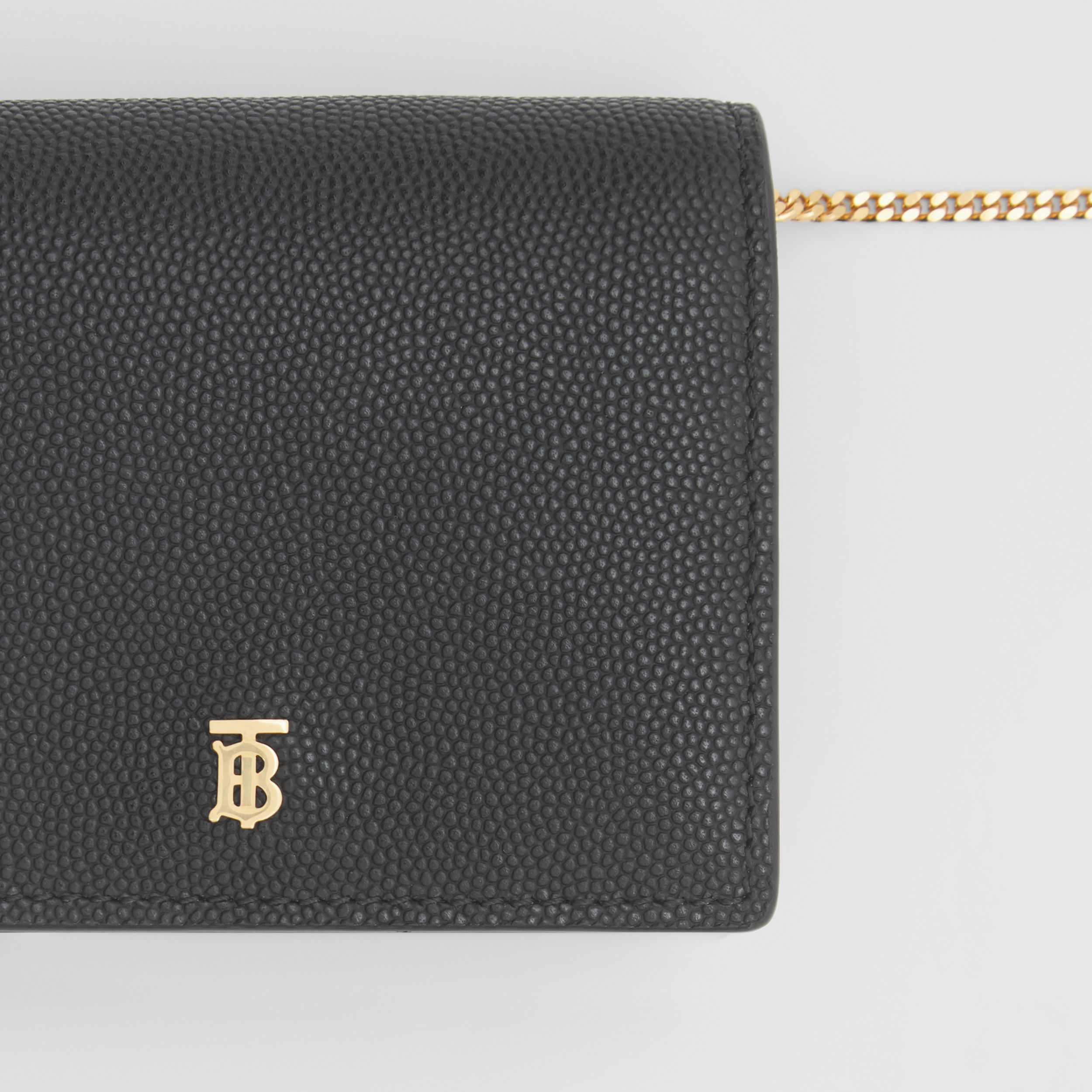 Grainy Leather Card Case with Detachable Strap in Black - Women | Burberry United Kingdom - 2
