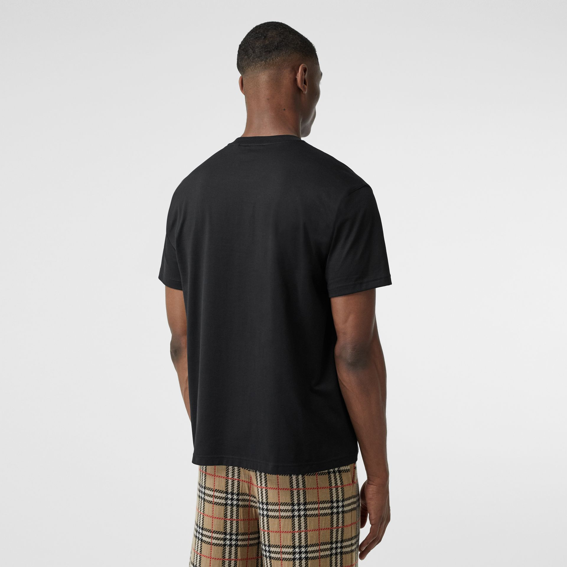 Kingdom Print Cotton T-shirt in Black - Men | Burberry - gallery image 2