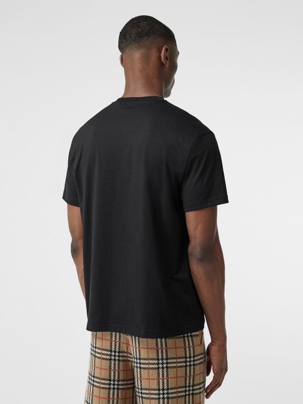 Kingdom Print Cotton T-shirt in Black - Men | Burberry - cell image 2