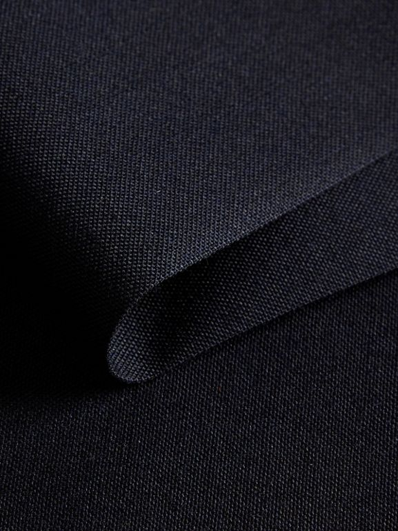 Slim Fit Wool Trousers in Navy - Men | Burberry United Kingdom - cell image 1
