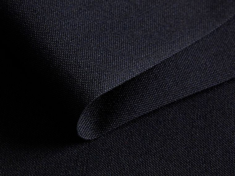 Slim Fit Wool Trousers in Navy - Men | Burberry - cell image 1