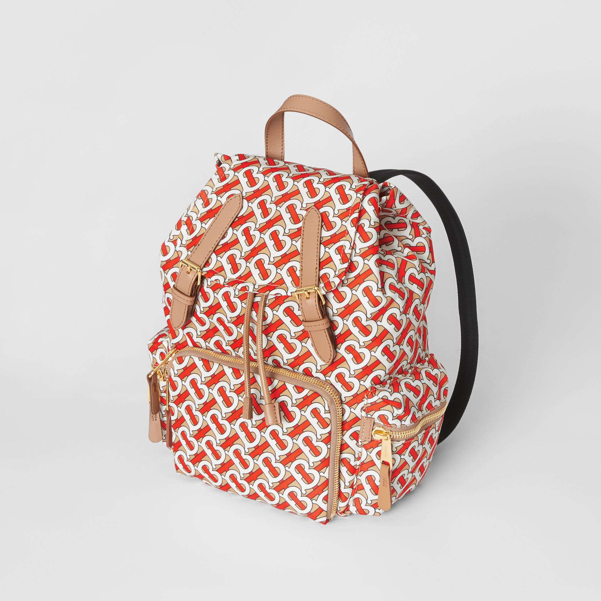 The Medium Rucksack in Monogram Print Nylon in Vermilion - Women | Burberry - gallery image 2