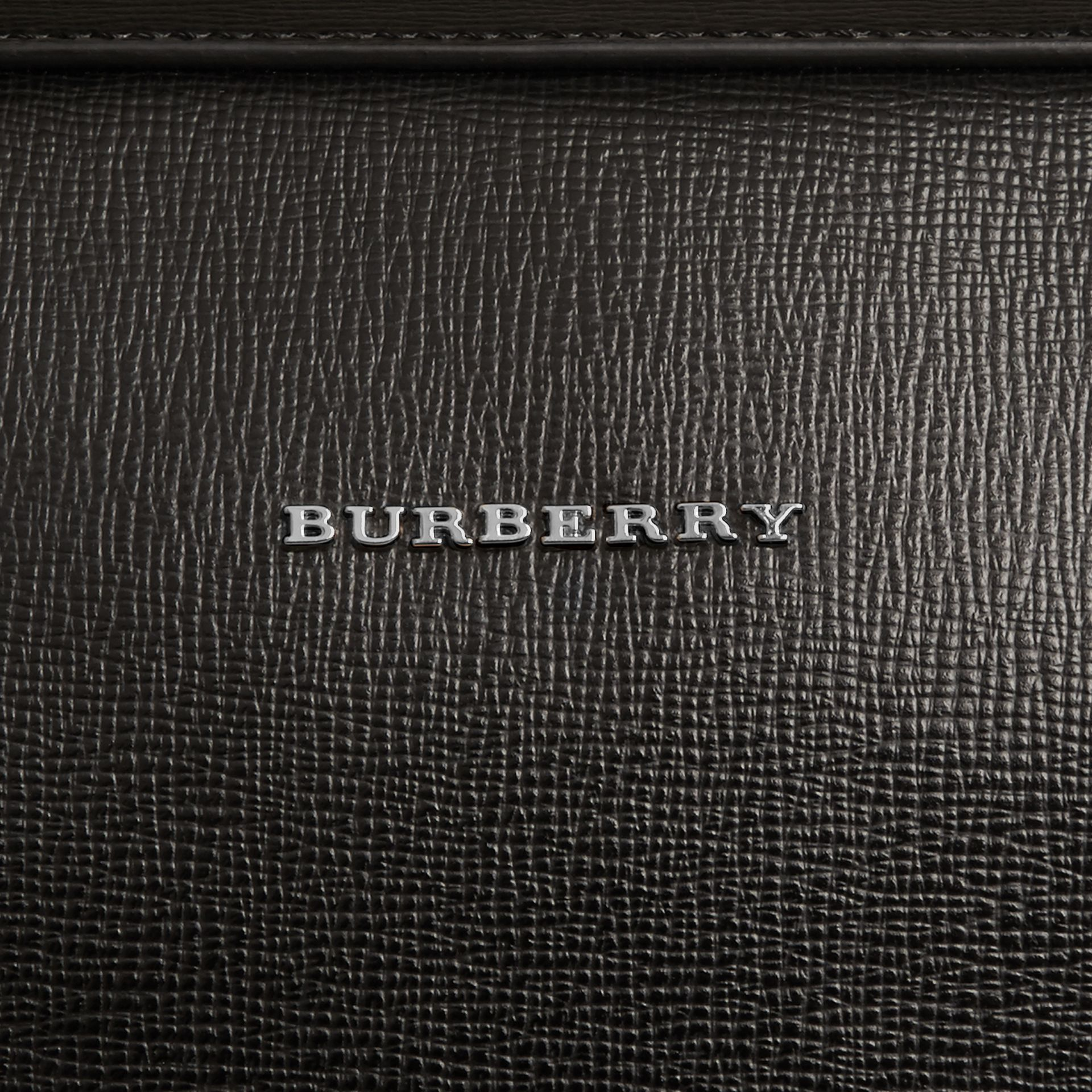 London Leather Briefcase in Black - Men | Burberry - gallery image 2