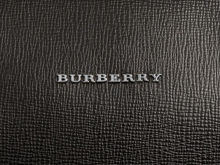 London Leather Briefcase in Black - Men | Burberry Singapore - cell image 1