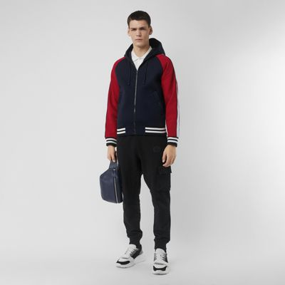 Contrast Crest Neoprene Hooded Top by Burberry
