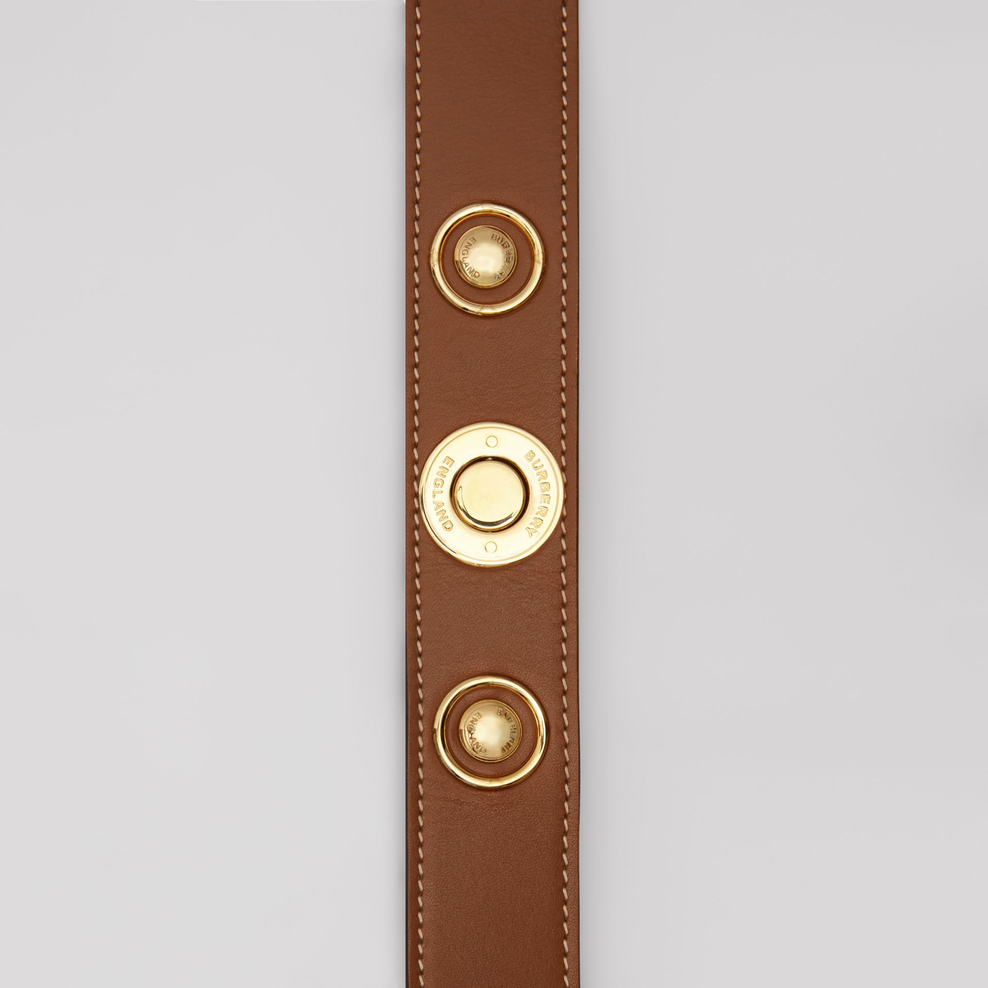 Triple Stud Leather Belt in Tan - Women | Burberry - gallery image 1