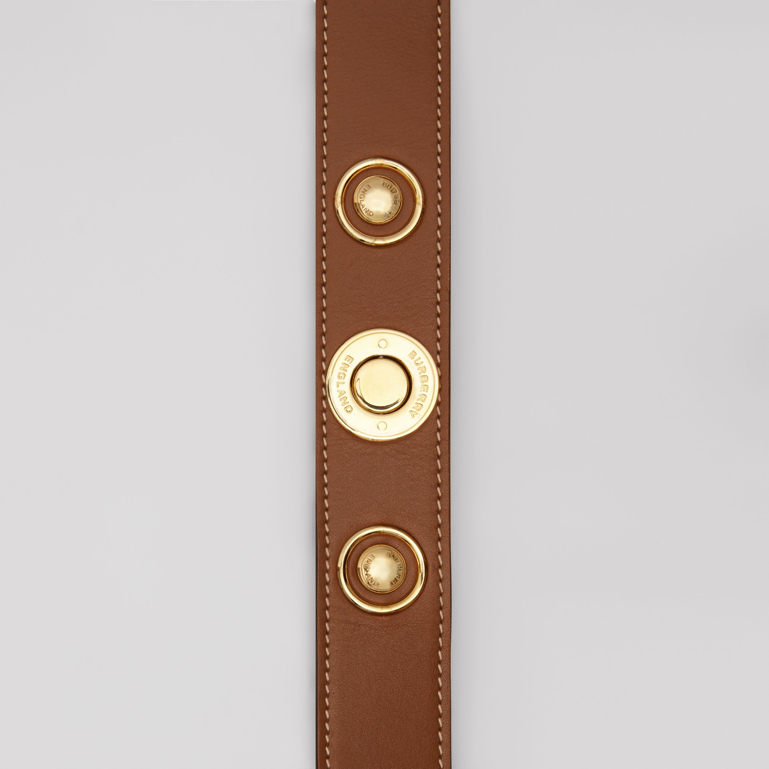 Triple Stud Leather Belt in Tan | Burberry Singapore - 2