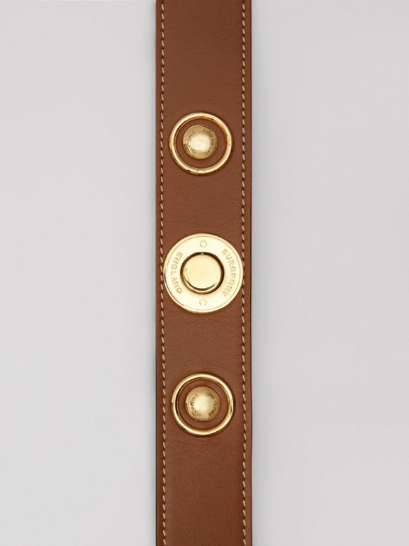 Triple Stud Leather Belt in Tan - Women | Burberry - cell image 1