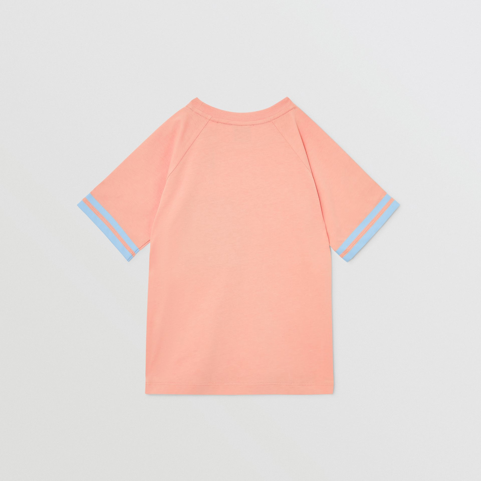 Tape Detail Location Print Cotton T-shirt in Peach | Burberry - gallery image 3