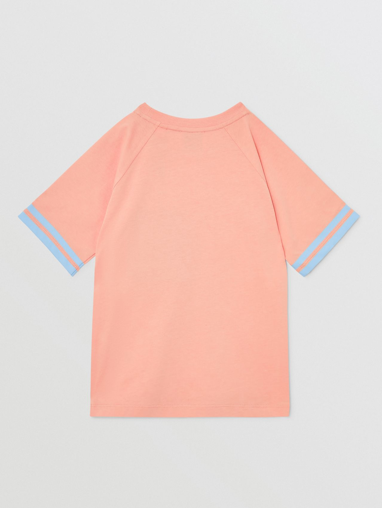 Tape Detail Location Print Cotton T-shirt in Peach