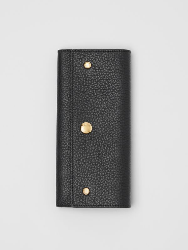 Grainy Leather Continental Wallet in Black - Women | Burberry Australia - cell image 3