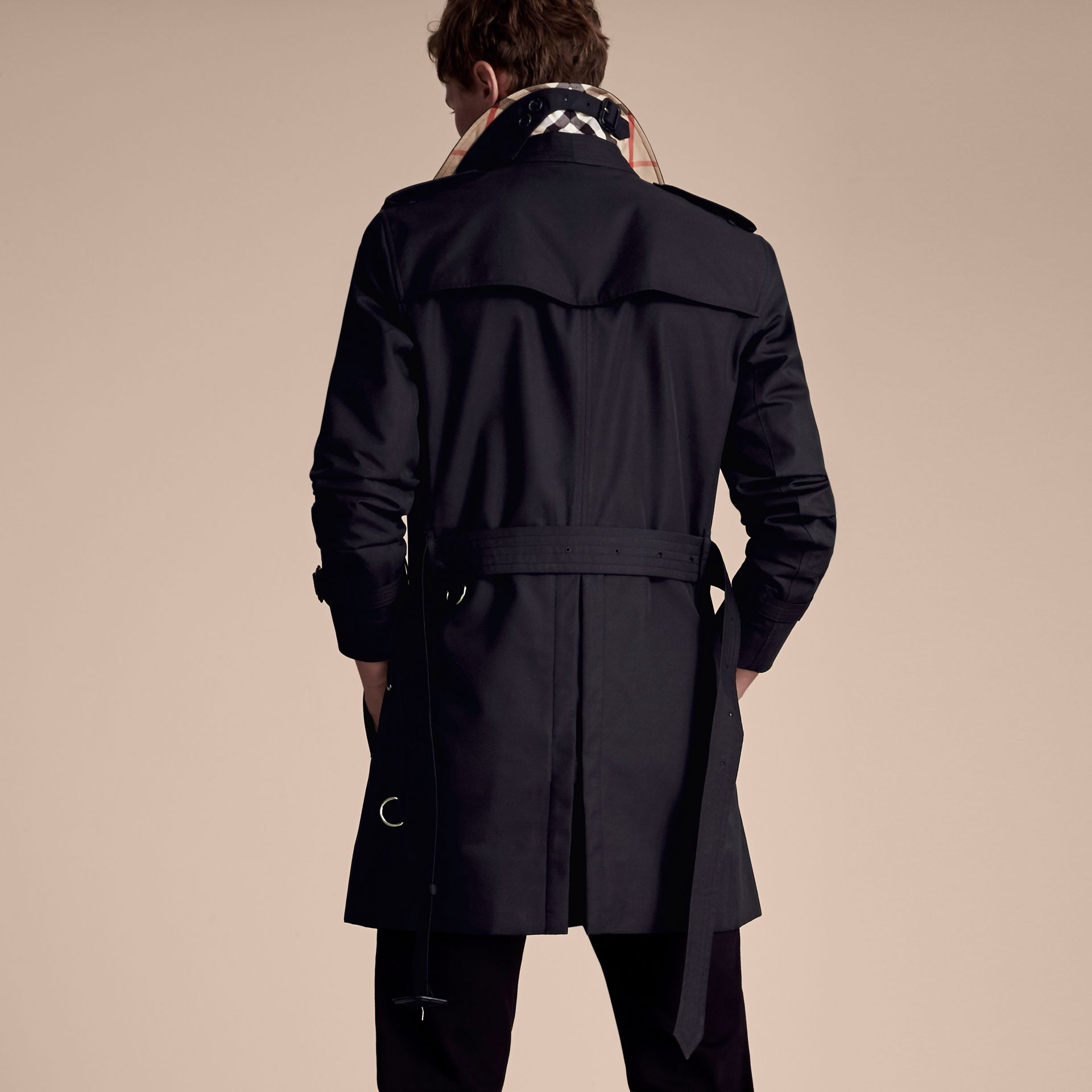 Navy The Sandringham – Mid-length Heritage Trench Coat Navy - gallery image 3