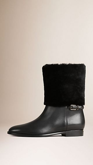 Shearling Calf Leather Boots