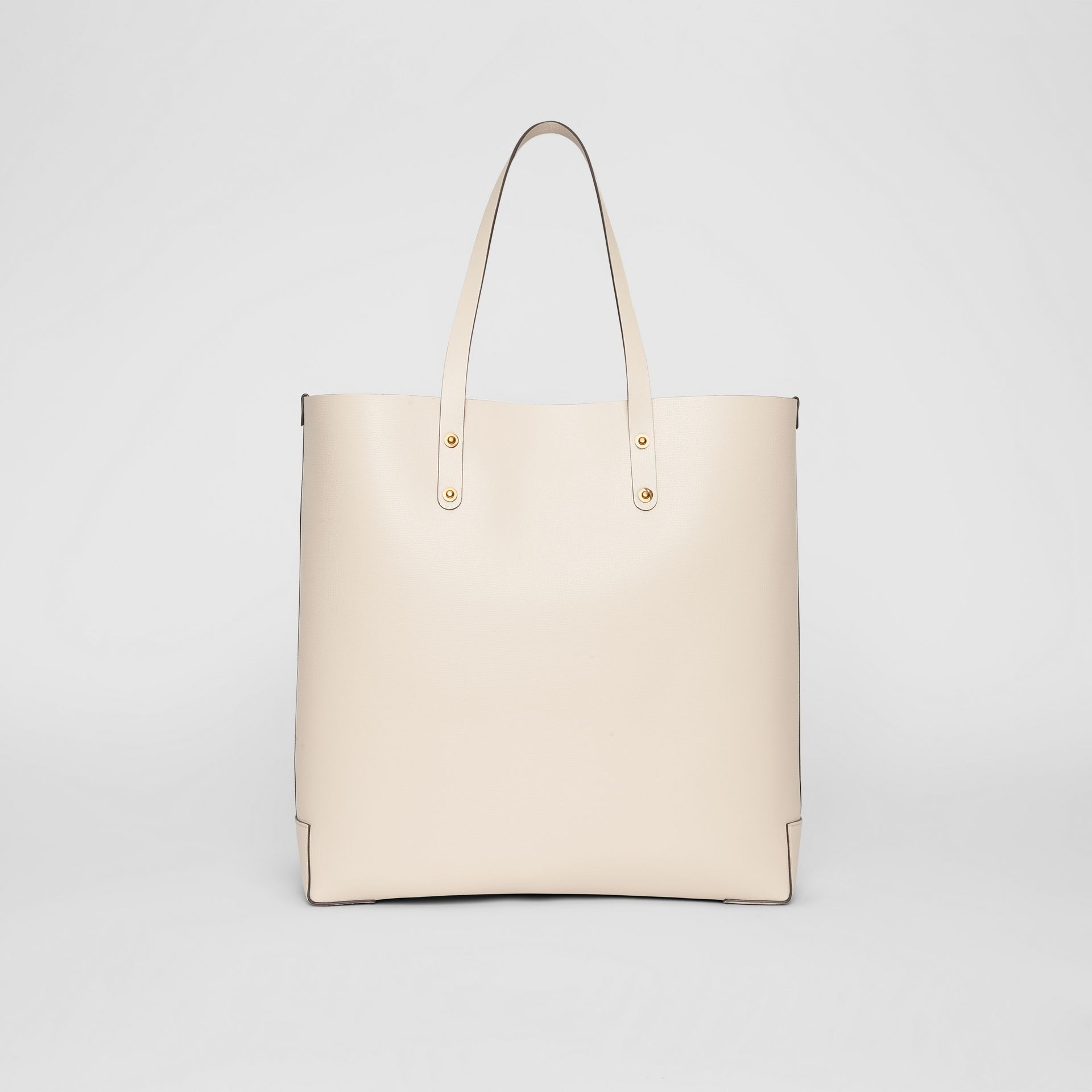 Large Embossed Crest Leather Tote in Limestone | Burberry Australia - gallery image 7
