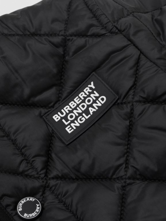 Recycled Polyester Diamond Quilted Jacket in Black - Children | Burberry United Kingdom - cell image 1