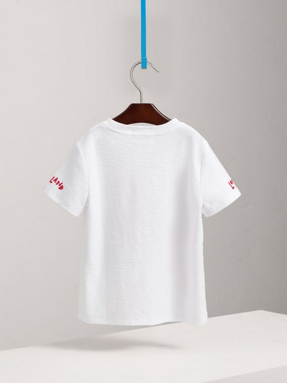 London Icons Print Cotton T-shirt in White - Boy | Burberry Canada - cell image 3
