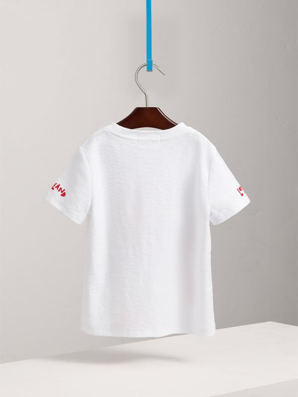 London Icons Print Cotton T-shirt in White | Burberry - cell image 3