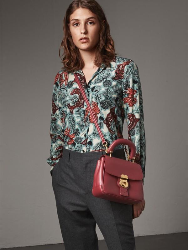 La borsa con manico DK88 piccola (Rosso Antico) - Donna | Burberry - cell image 2