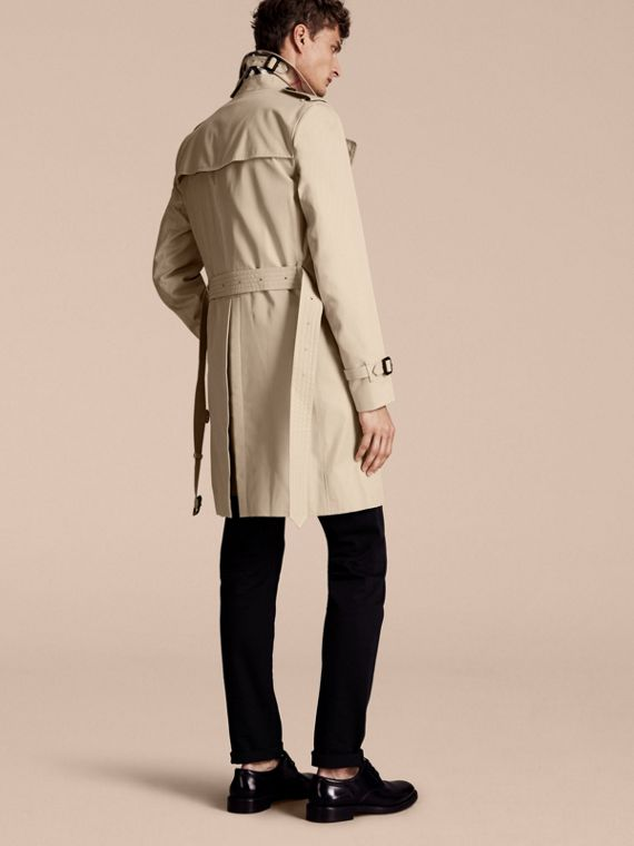 Stone The Sandringham – Long Heritage Trench Coat Stone - cell image 2