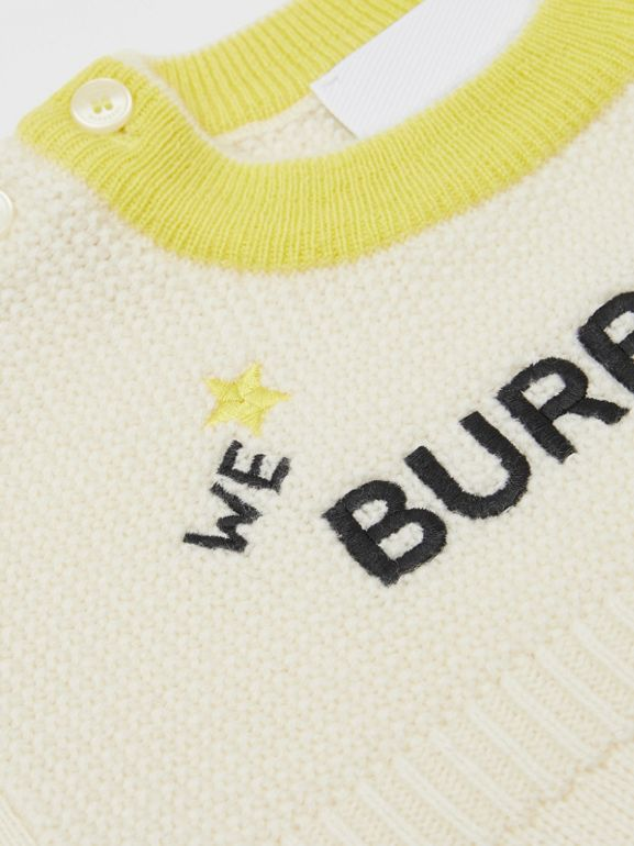 Star Motif Wool Cashmere Three-piece Baby Gift Set in Ivory - Children | Burberry Hong Kong S.A.R - cell image 1