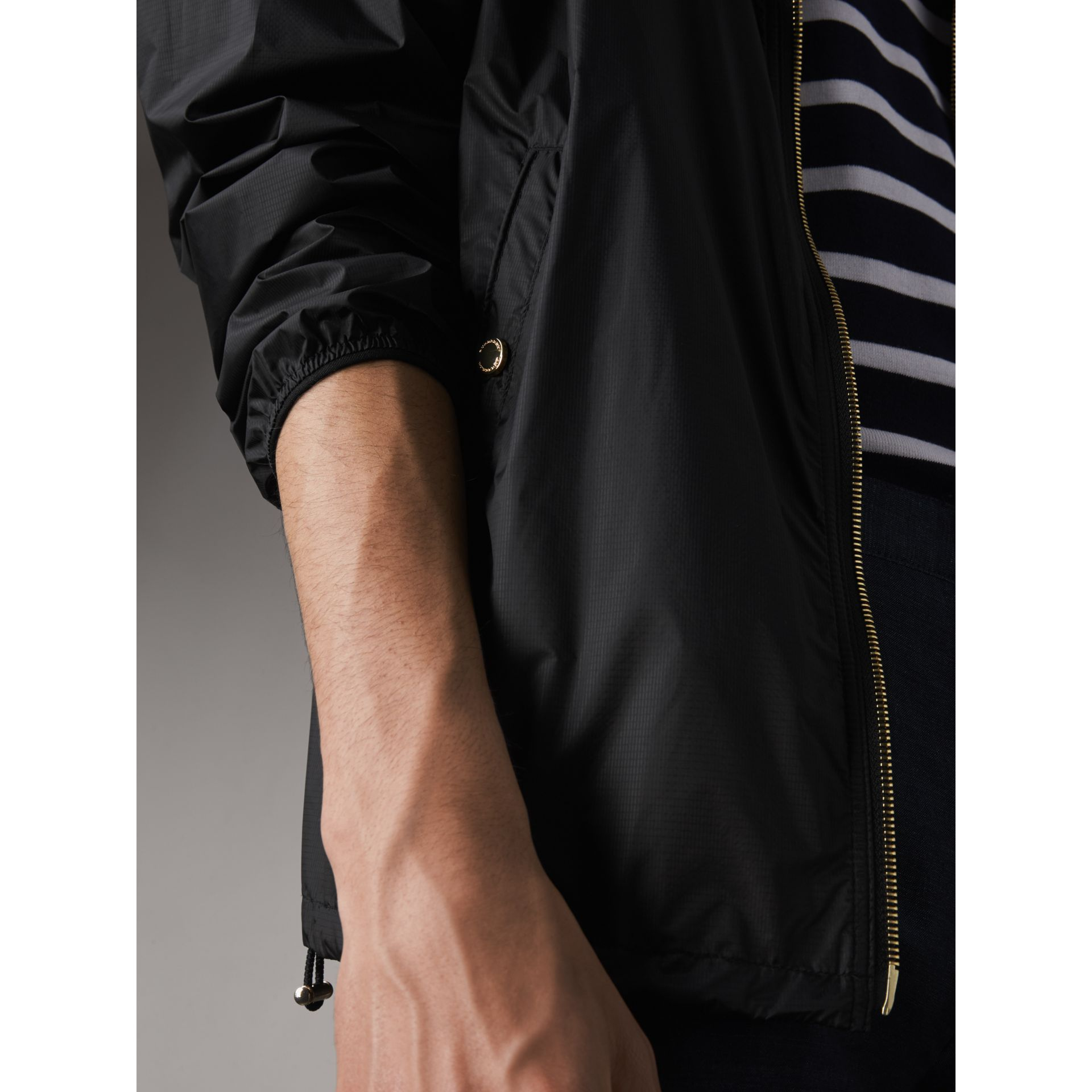 Hooded Super-lightweight Jacket in Black - Men | Burberry - gallery image 5