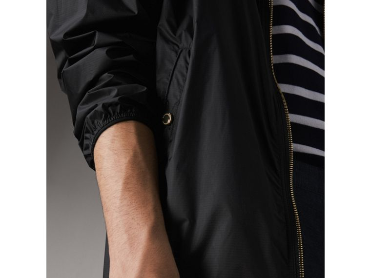 Hooded Super-lightweight Jacket in Black - Men | Burberry - cell image 4