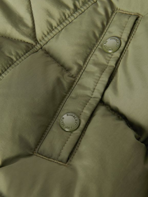 Detachable Hood Down-filled Puffer Coat in Poplar Green | Burberry United Kingdom - cell image 1