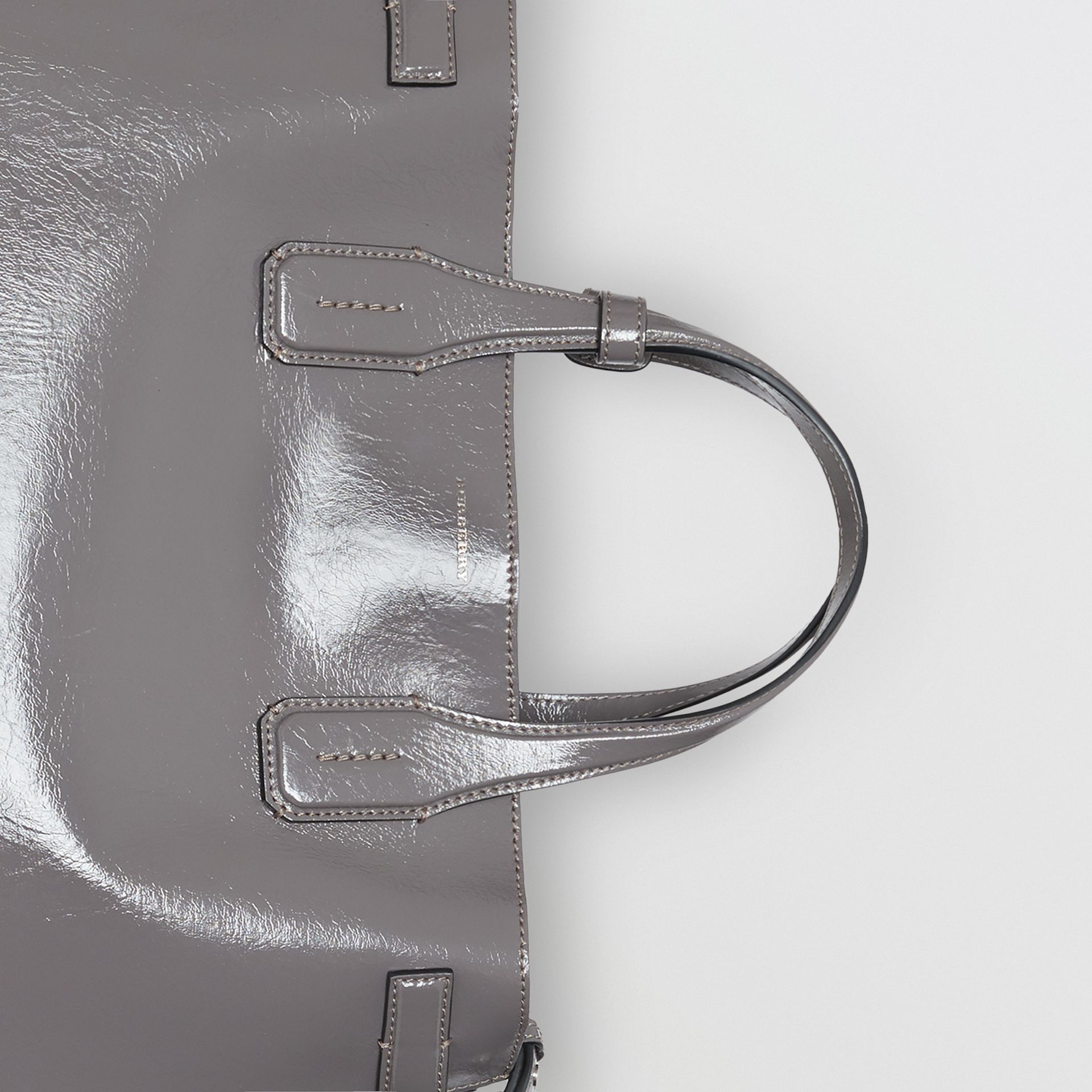 The Medium Soft Leather Banner in Sepia Grey - Women | Burberry Singapore - gallery image 1