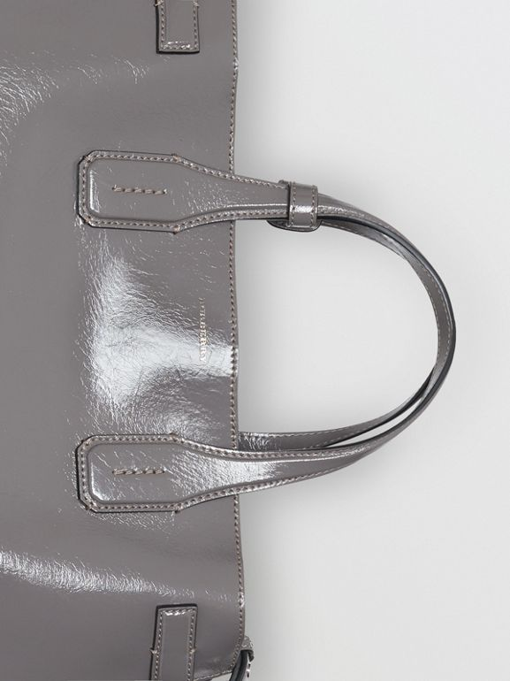 The Medium Soft Leather Banner in Sepia Grey - Women | Burberry Singapore - cell image 1