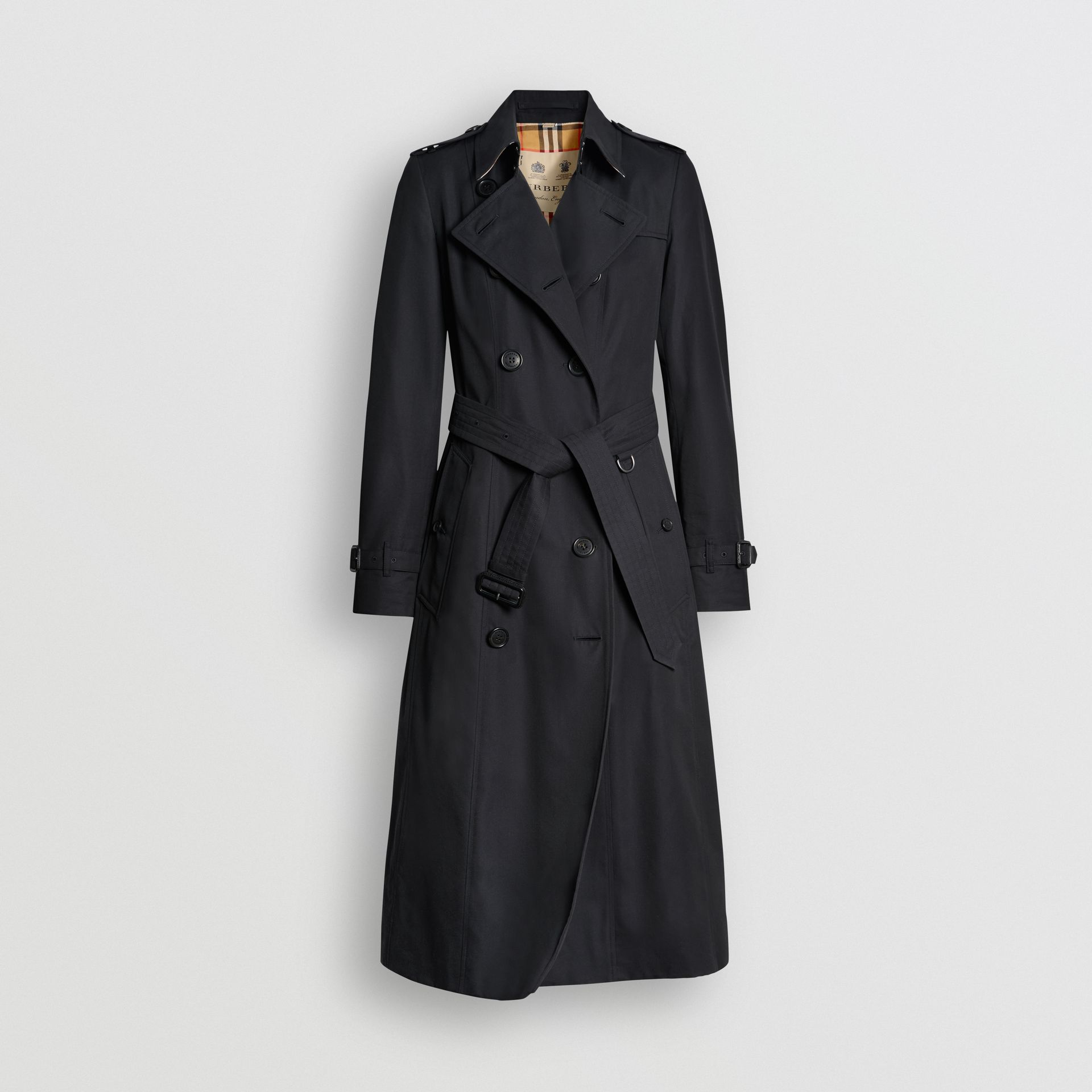 The Long Chelsea Heritage Trench Coat in Midnight - Women | Burberry - gallery image 3