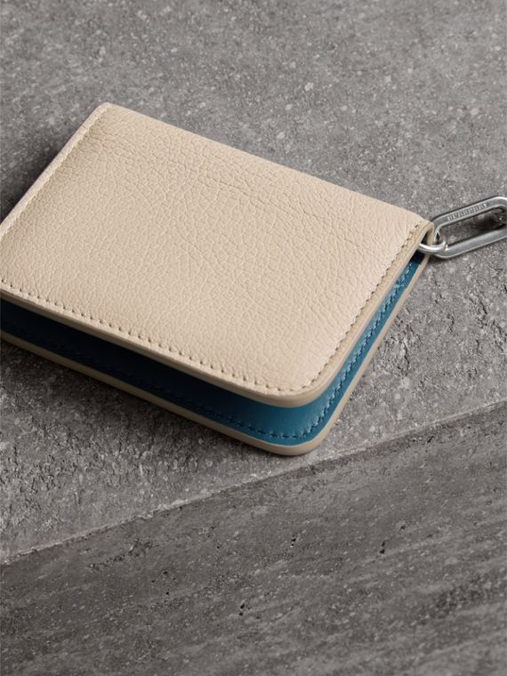 Link Detail Leather ID Card Case Charm in Stone | Burberry - cell image 2