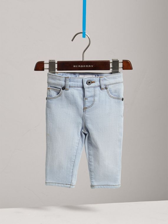 Skinny Fit Stretch Denim Jeans in Light Blue | Burberry - cell image 2