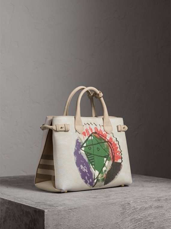 The Banner media in pelle con motivo Pallas Heads - Donna | Burberry