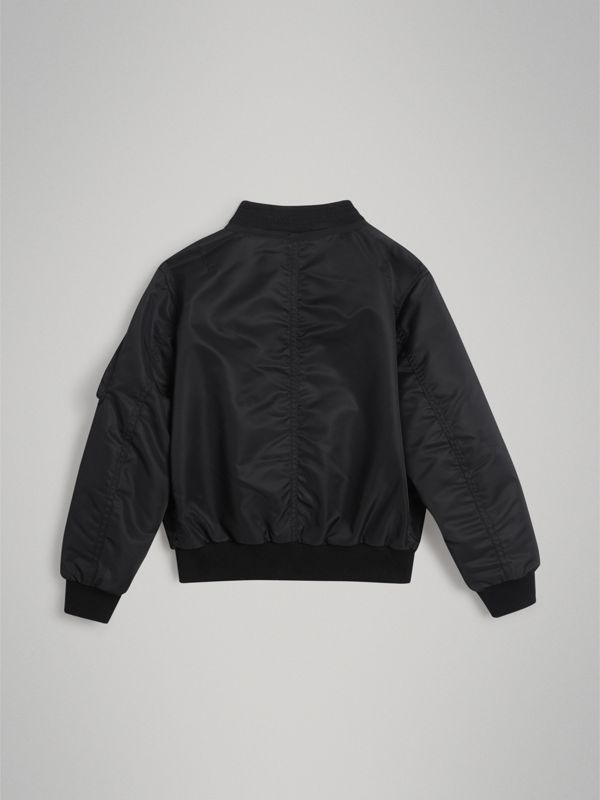 Lightweight Nylon Bomber Jacket in Black | Burberry Singapore - cell image 3