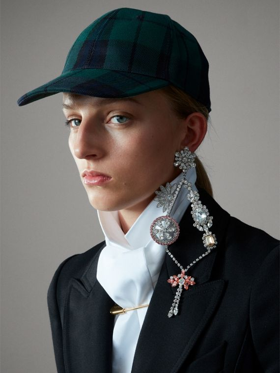 Tartan Baseball Cap in Racing Green | Burberry - cell image 2
