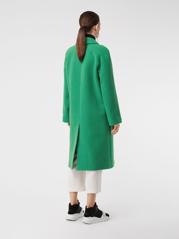 Wool Blend Tailored Coat in Bright Green - Women | Burberry United Kingdom - cell image 2