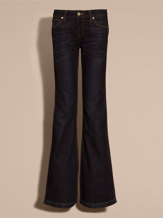 Mid indigo Flared Stretch Denim Jeans - cell image 3
