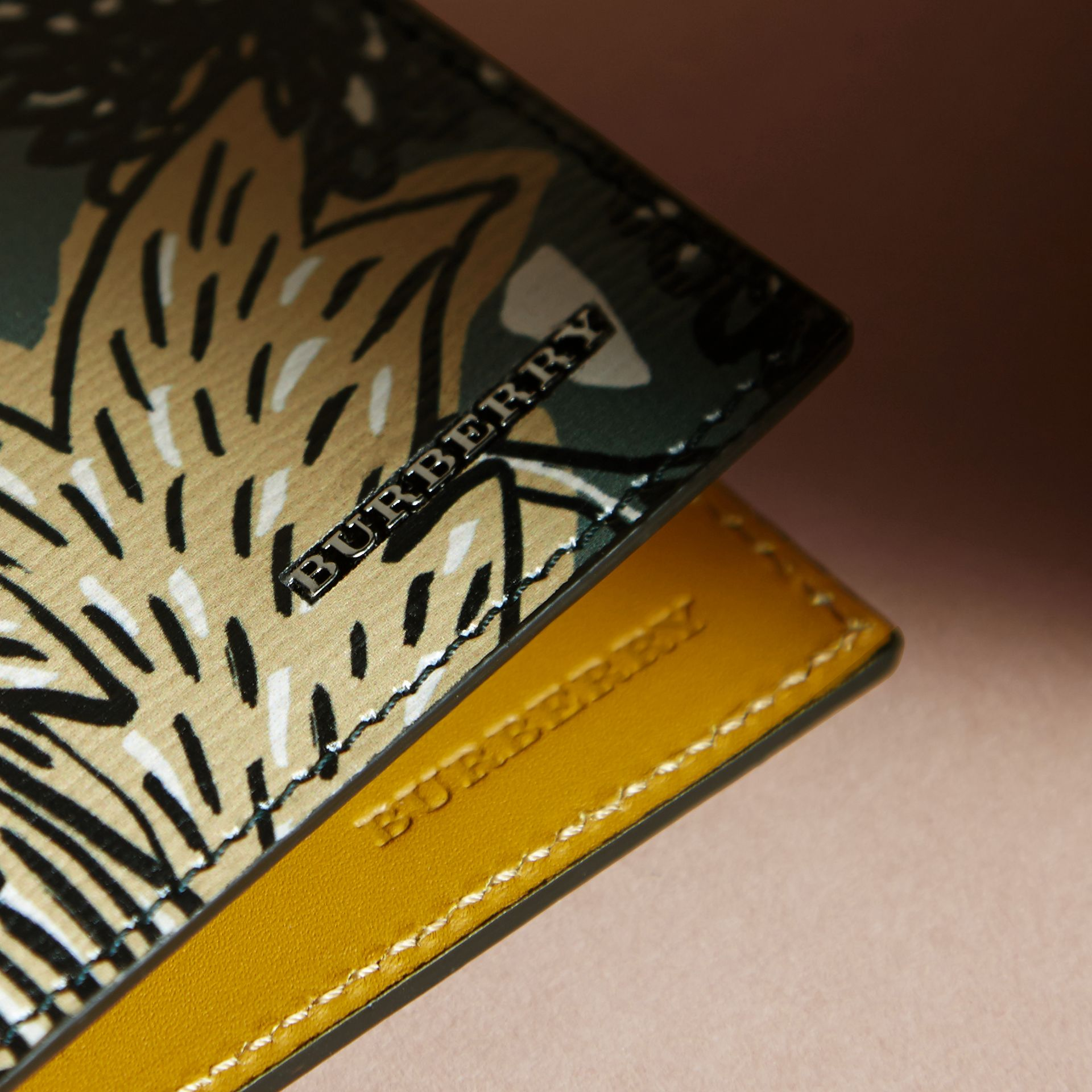 Beasts Print Leather Folding Wallet - gallery image 2
