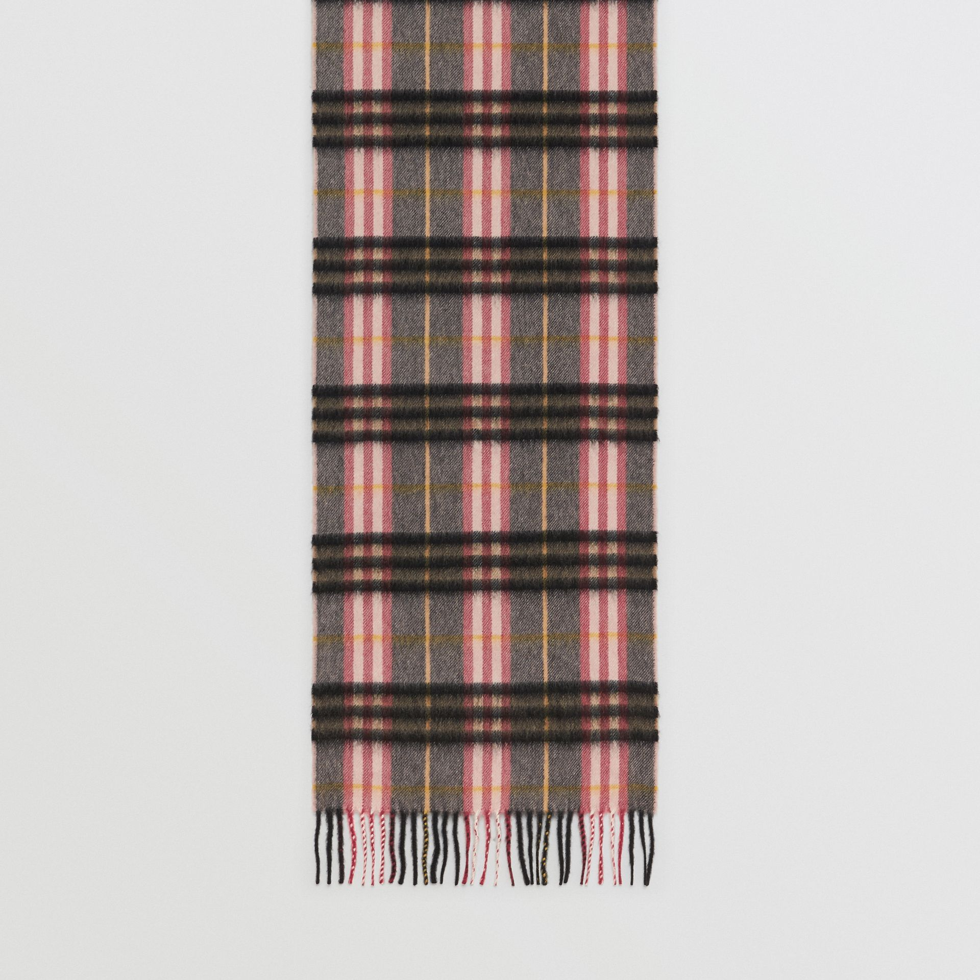 Check Cashmere Scarf in Ash Rose | Burberry - gallery image 4