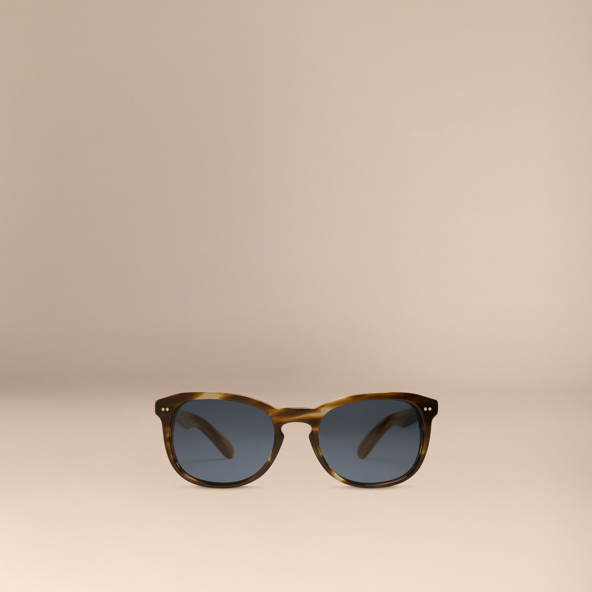 Dark brown horn Square Frame Sunglasses Dark Brown Horn - gallery image 5