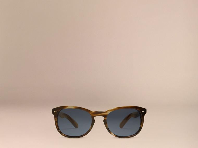 Dark brown horn Square Frame Sunglasses Dark Brown Horn - cell image 4