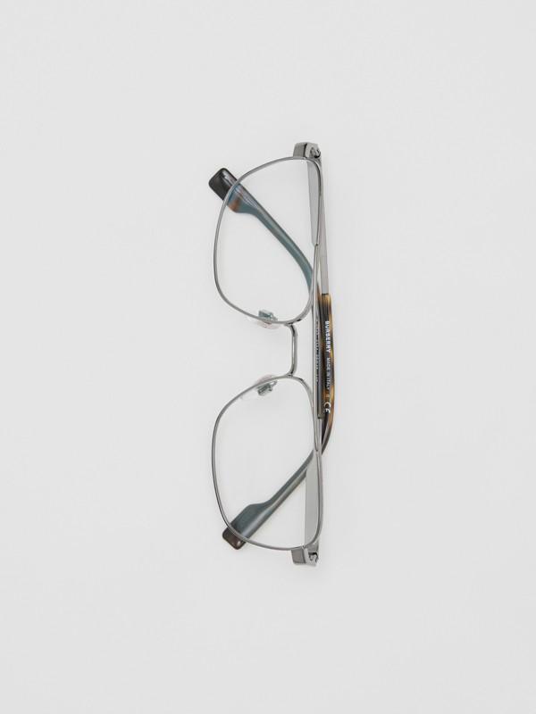 Rectangular Navigator Optical Frames in Dark Grey | Burberry - cell image 2