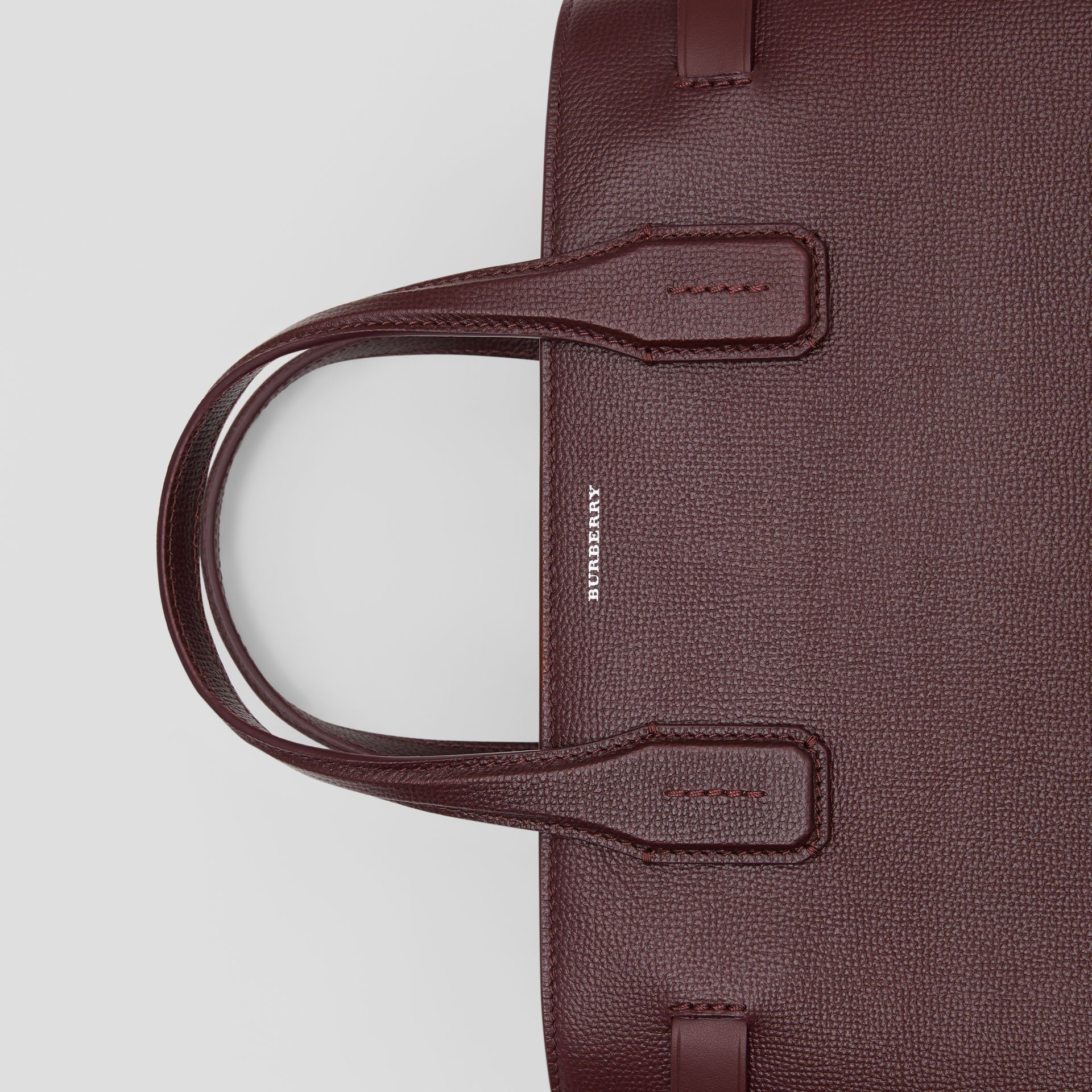 The Medium Banner in Leather and Vintage Check in Mahogany Red - Women | Burberry Hong Kong S.A.R - gallery image 1