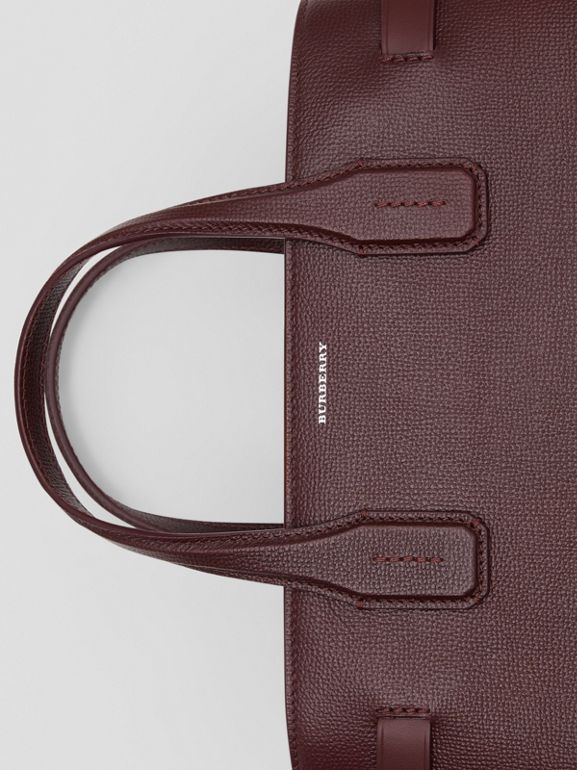 The Medium Banner in Leather and Vintage Check in Mahogany Red - Women | Burberry Australia - cell image 1