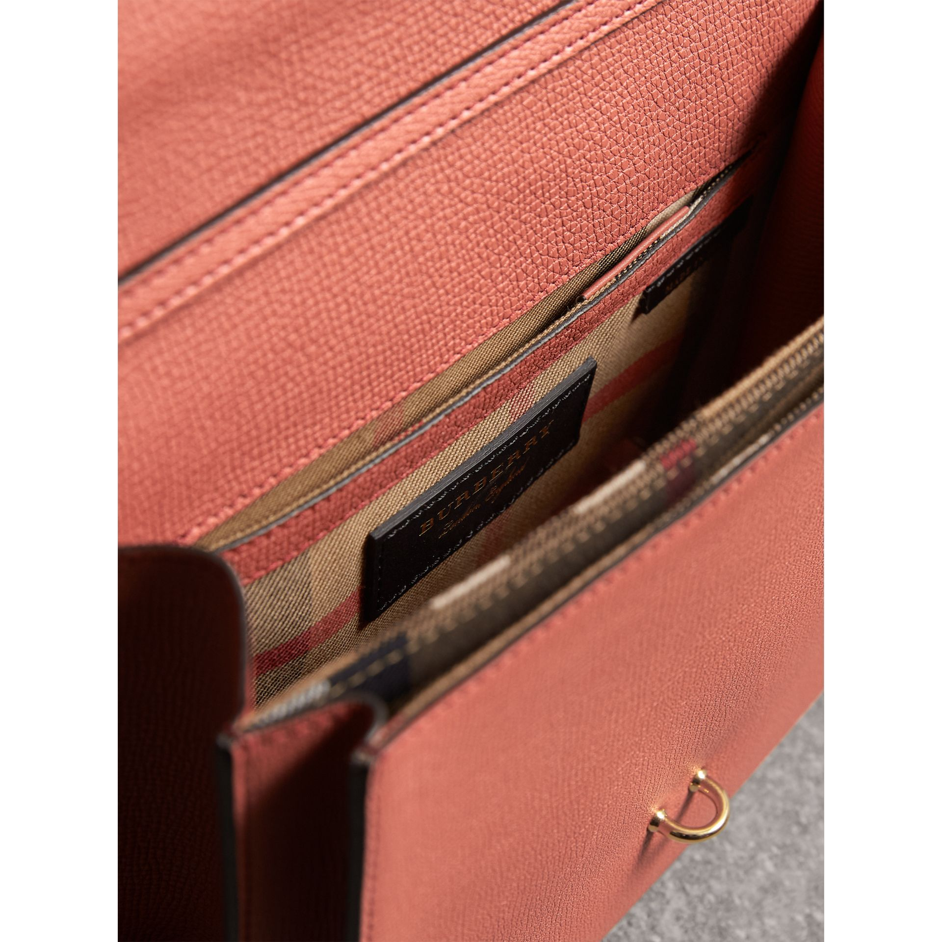 Small Leather Crossbody Bag in Cinnamon Red - Women | Burberry Australia - gallery image 5