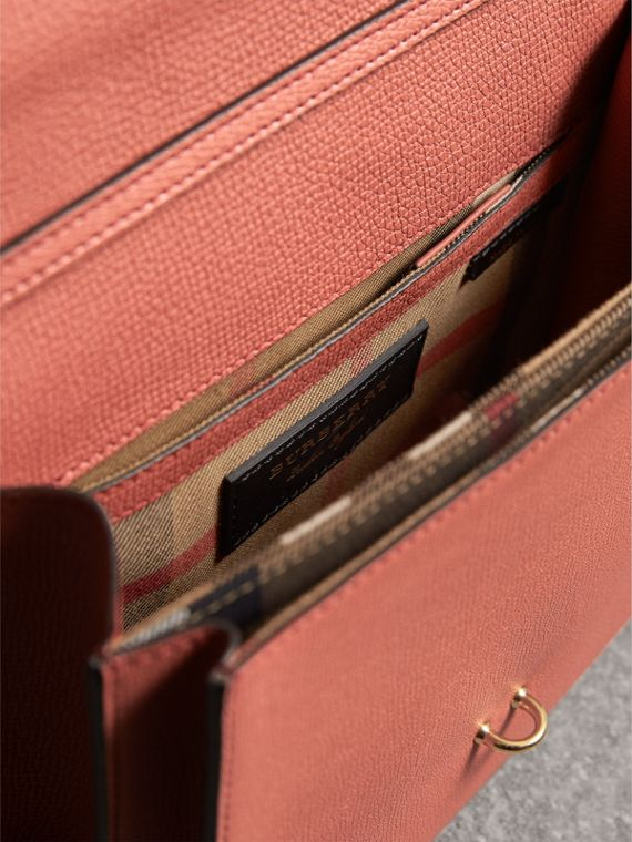 Small Leather Crossbody Bag in Cinnamon Red - Women | Burberry - cell image 3